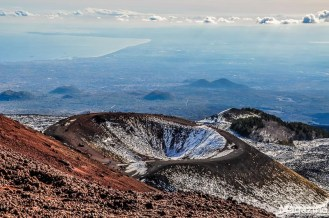 The craters are a reminder that this volcano is merely sleeping..
