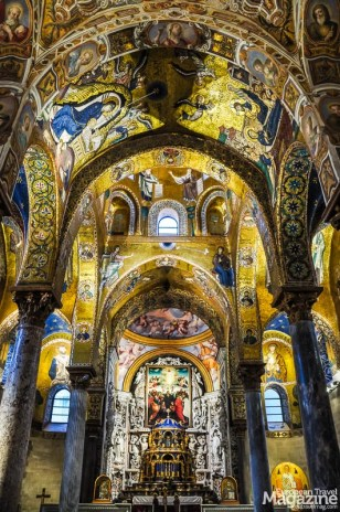 The church of Santa Maria dell'Ammiraglio is a clash between Byzantine mosaics and Baroque frescoes