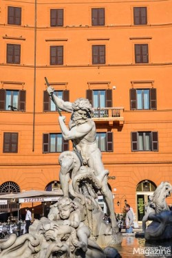 While urban construction swallowed much of the Roman architecture, it's the same for Piazza Navona as for everything else in Rome: They became part, albeit many times just as foundation, for new buildings