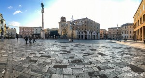 The open, bright and airy main square Piazza Sant'Oronzo