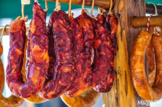 The sausages from the local Bisarò pig is especially delicious