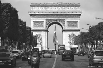 The unique Arc de Triomphe at Champs-Élysées