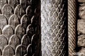 Wonderful columns at Tempietto del Clitunno