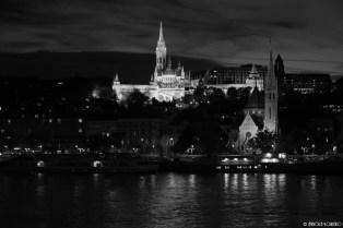 Matthias Church, Fisherman's Bastion, Hilton and at the bank of Danube, the Calvinist church