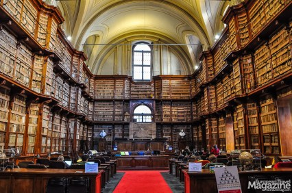 While any librofile will hear the angels sing when entering this grand space, it's not the heavenly choir that has christened Biblioteca Angelica