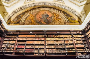 Filled with books donated by archaeologists, scholars and art historians, this stunning library will take your breath away