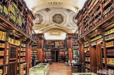 Biblioteca di Archeologia e Storia Dell'Arte was assigned the fitting rooms of Sala Crociera in 1986