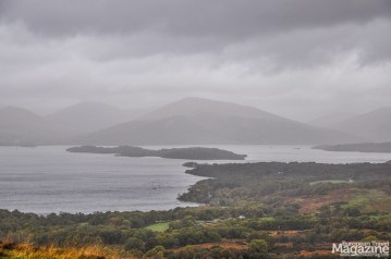 As you ascent, you're actually walking on the ridge of the Highland Boundary Fault line, and the string of islands across Loch Lomond lined up with the ridge are all on the fault line