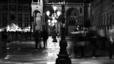 Busy night at Piazza San Marco