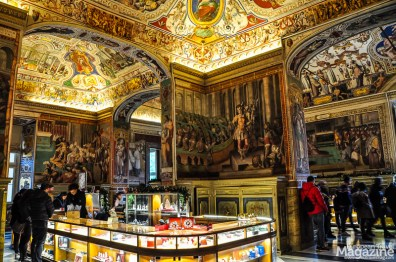 In the Chapel, no pictures are allowed but have you ever seen such a lush Museum Shop?