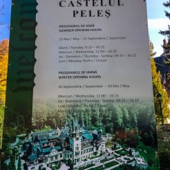 It's very important to check whether Peleș Castle is at all open