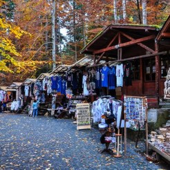 Souvenir frontier, selling everything from mulled wine to wool-waded waistcoats