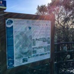 An information panel tells the fascinating, geological tale of the volcano