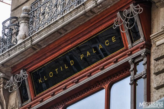 .. or Klotild Palota, is one of two buildings on each side of Kossuth Lajos utca, just before Elisabeth Bridge. The building to the north, and impeccably renovated, is Klotild Palace. The building to the south is Matild Palace, not yet renovated (as per 2019).