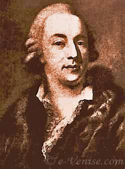 Portrait of Giacomo Casanova.
