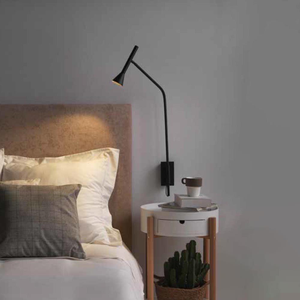 Modern Bedside Wall Lamp Cl 39474 E2 Contract Lighting Uk