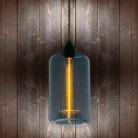 Blue Glass Pendant Light   E2 Contract Lighting   Bespoke ...