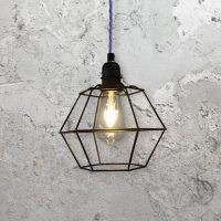 Geometric Cage Pendant Light CLB