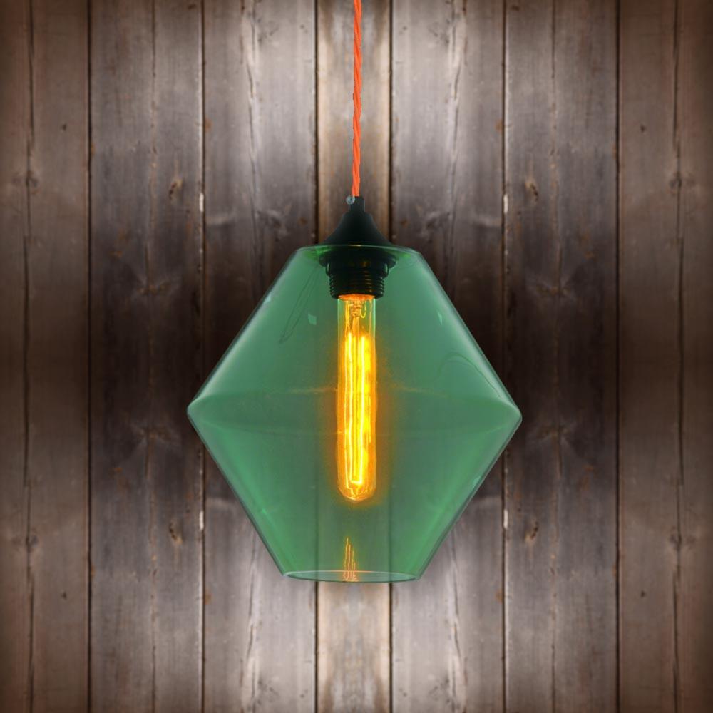 Green Glass Pendant Light