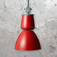 Large Red Pendant Light CLB