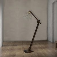 Rustic Wood Floor Lamp CL-32714 | E2 Contract Lighting | UK