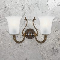 Two Light Antique Brass Wall Sconce CL-33530 | E2 Contract ...