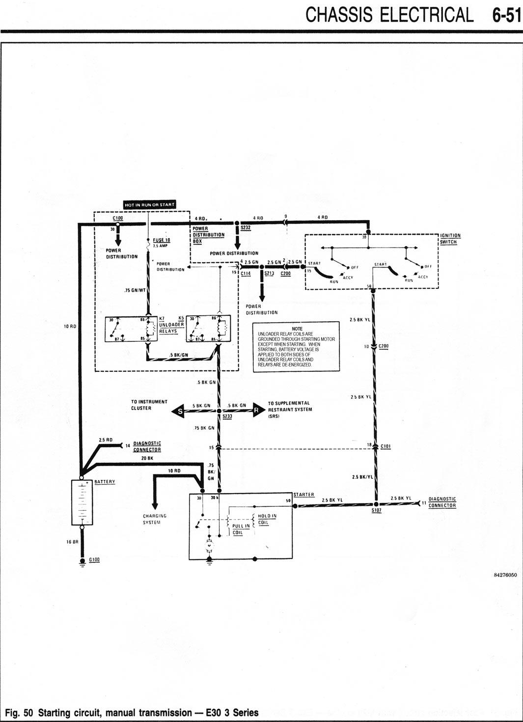 Boat Starter Wiring Diagram 91 E30 318is M42 Crank No Start