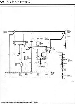 M42 Starter  Fuel Injection Wiring Diagrams