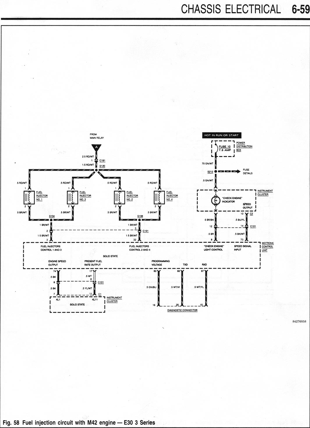 M42 Starter / Fuel Injection Wiring Diagrams