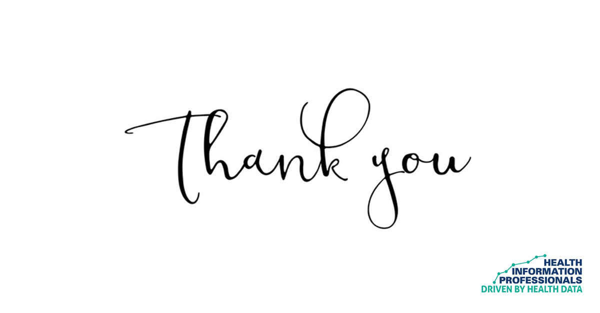 Thank you from Health Information Professionals