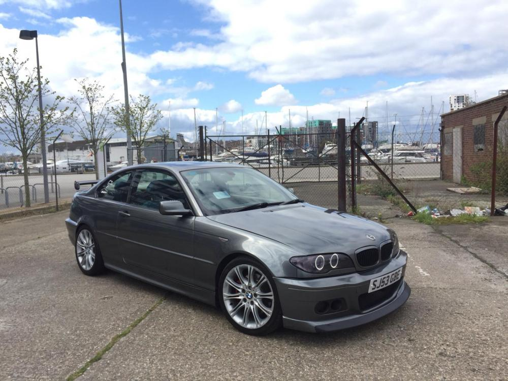 medium resolution of my wrapped bmw e46 330ci after tinting headlights