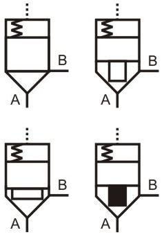 Hydraulic logic valve symbols