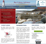 Internet marketing client, Bay Colony Advisors, Inc. - Website Redesign project