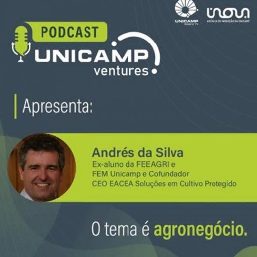 Apresentação do CEO da EACEA, Andrés da Silva no Podcast Unicamp Ventures