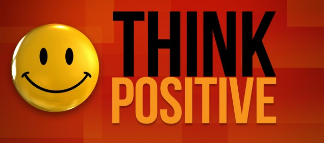 think positive banner