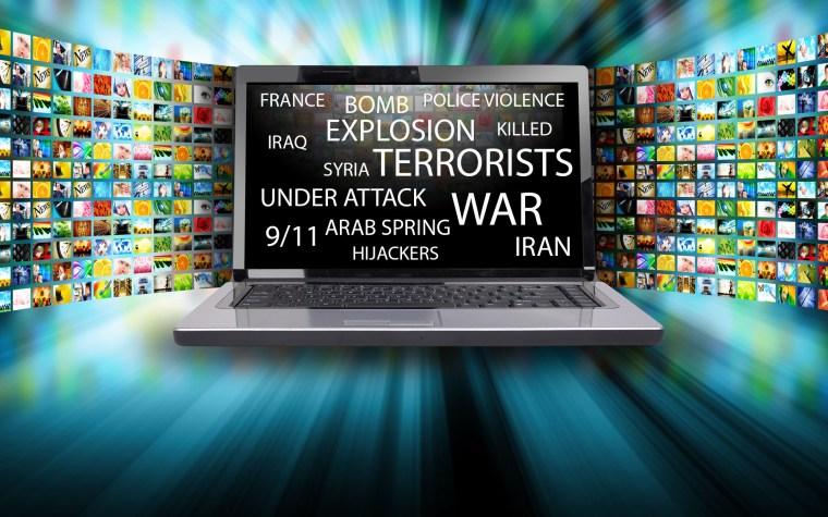 Terror in every mainstream media flows around the world.