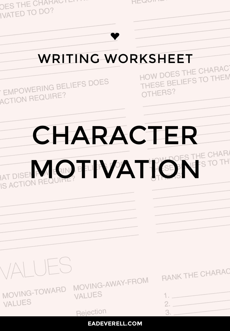 Character Motivation Worksheet