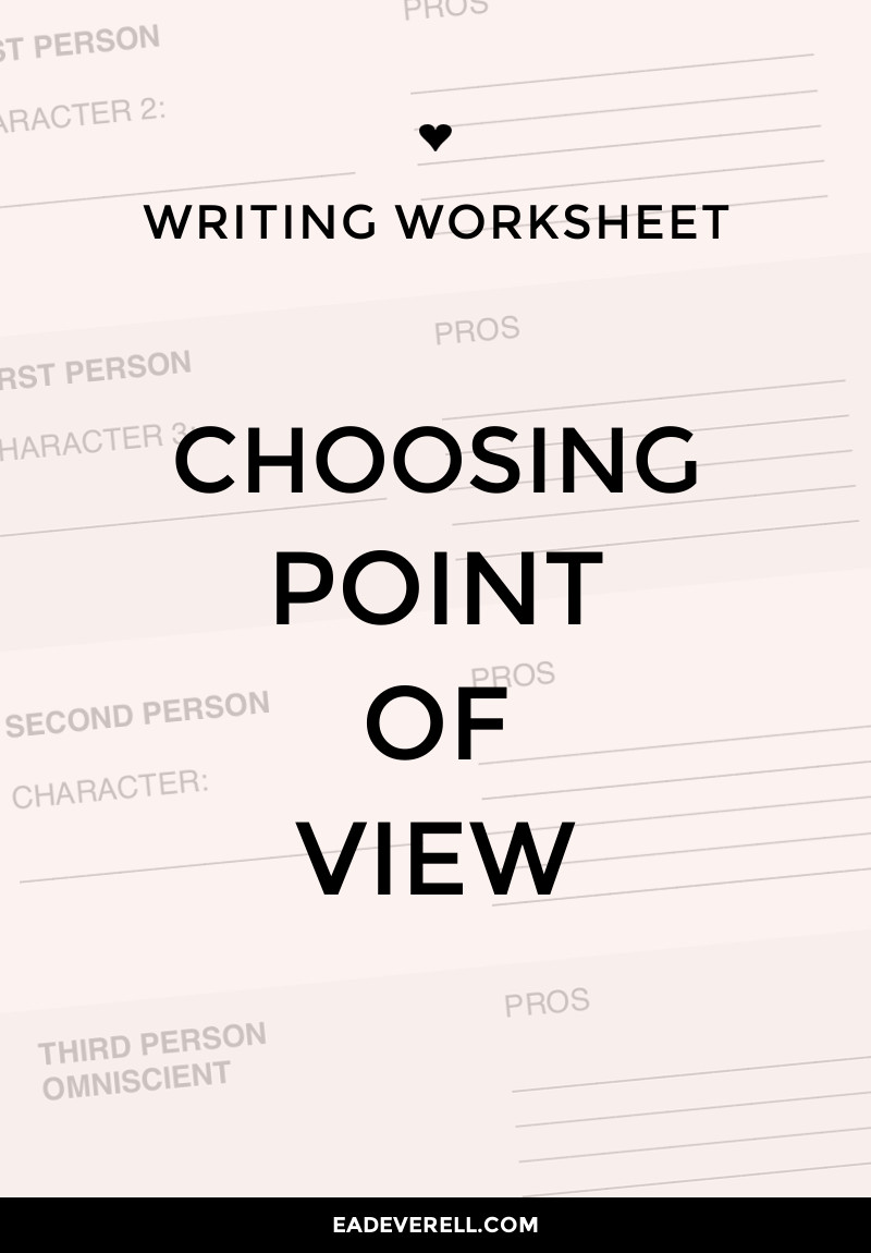 Point of View (Writing Worksheet Wednesday)