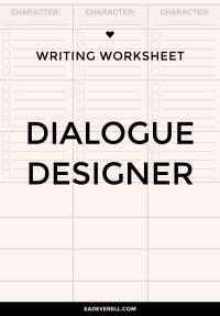 Writing Dialogue Worksheet