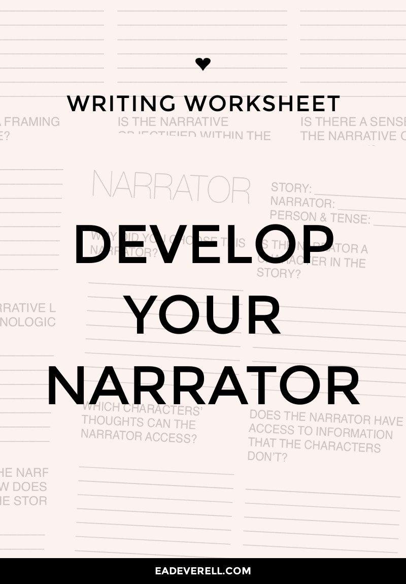 Narrator Worksheet