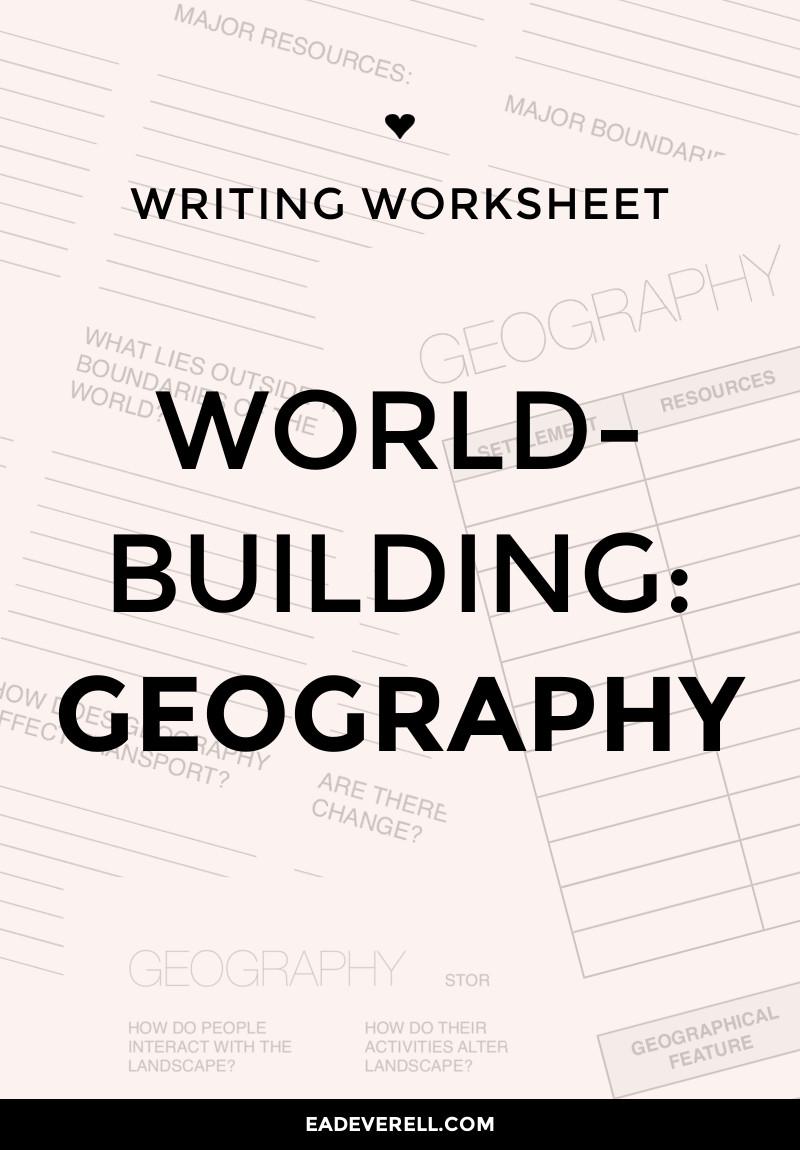Worldbuilding Worksheet: Geography
