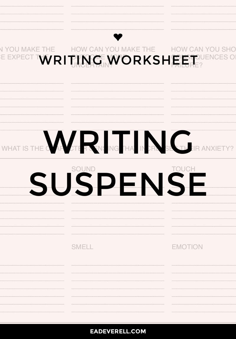 Writing Suspense? Will it work?