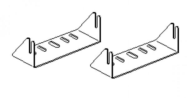 GOBI Jeep JK Stealth Light Bar Cradle Brackets for Rigid 6