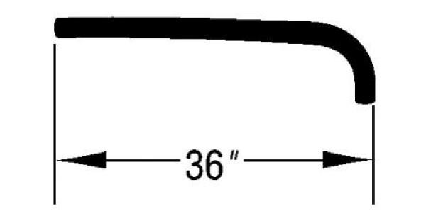 OMIX-ADA Jeep XJ 97-01 Heater Supply Hose (4.0L)