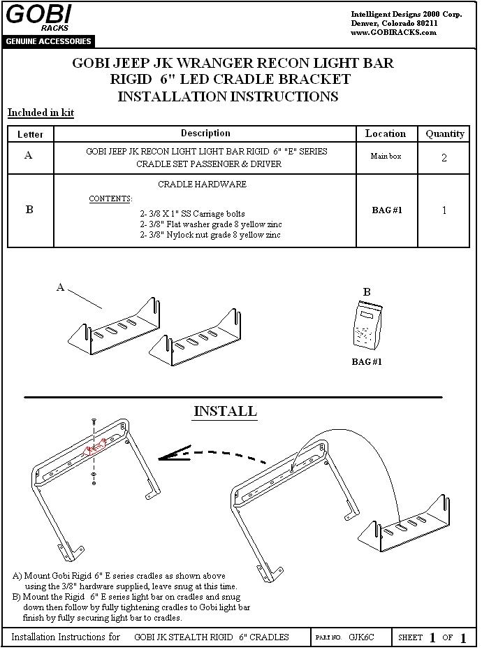 Rigid Led Light Bar Installation