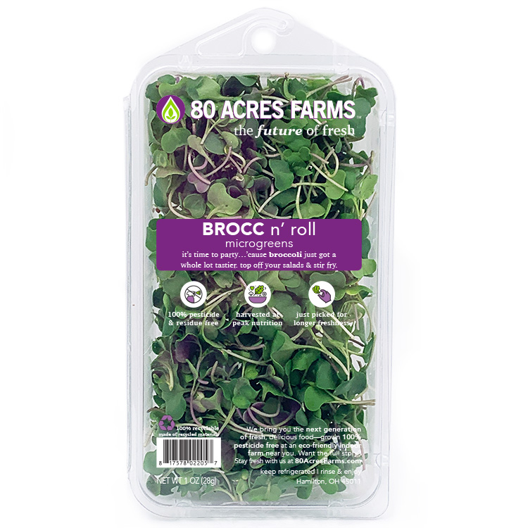 80 Acres Farms Brocc n roll Microgreens
