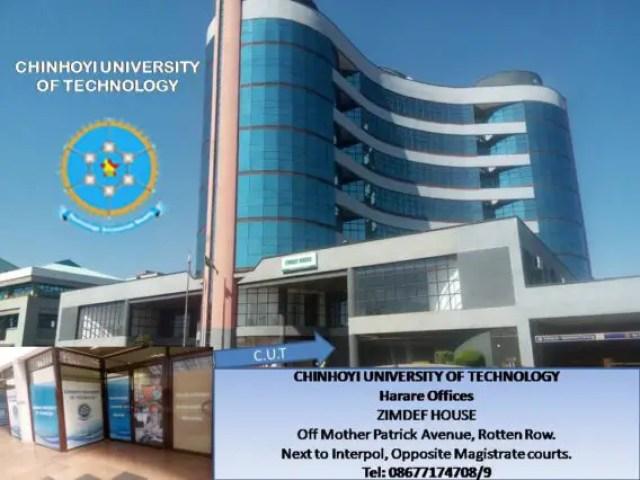 Chinhoyi University, CUT Admission Requirements: 2019 Intake