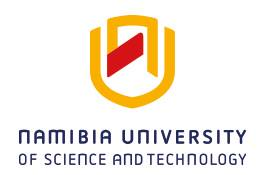 Namibia University of Science & Tech, NUST Academic Calendar