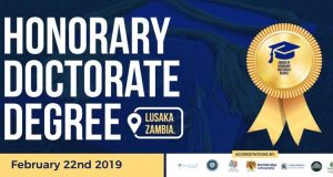 Nominations for Conferment of Honorary Doctorate Degrees at BallsBridge University, Lusaka Zambia - 2019 Free Event