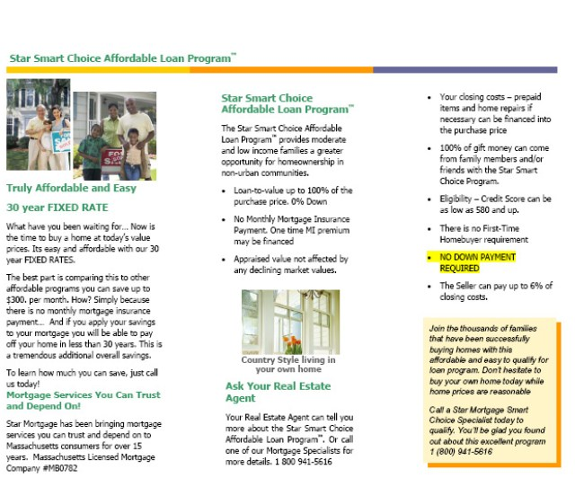 Smart Choice Affordable Loan Program Brochure